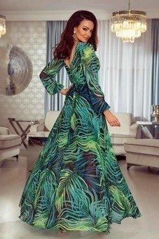 563725ab7c LINDA- Sukienka długa Maxi- liście