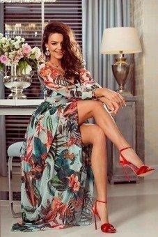 fe7618f3b5 MAJA- sukienka długa maxi