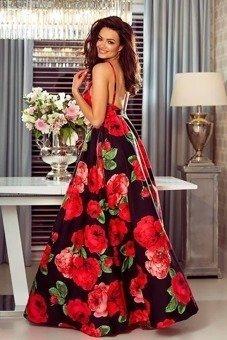 99da0b5002 Sukienka Megi- czarny kwiaty