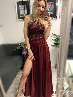 0c0c37913e Sukienka Vivien -bordowy