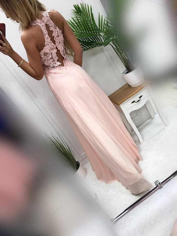 Długa Sukienka BUGATTI puder