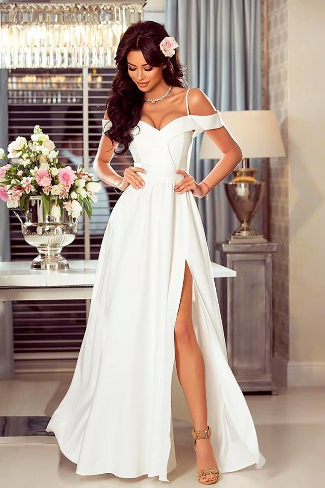 3df9b25c Długa Sukienka Elizabeth - biała Biały | Odzież \ Sukienki Sukienka ...