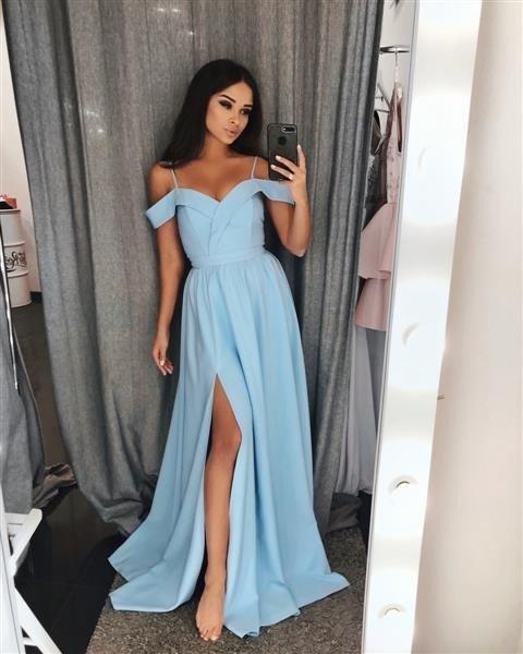 ada92bacf4 Długa Sukienka Elizabeth - błękitna błękitny