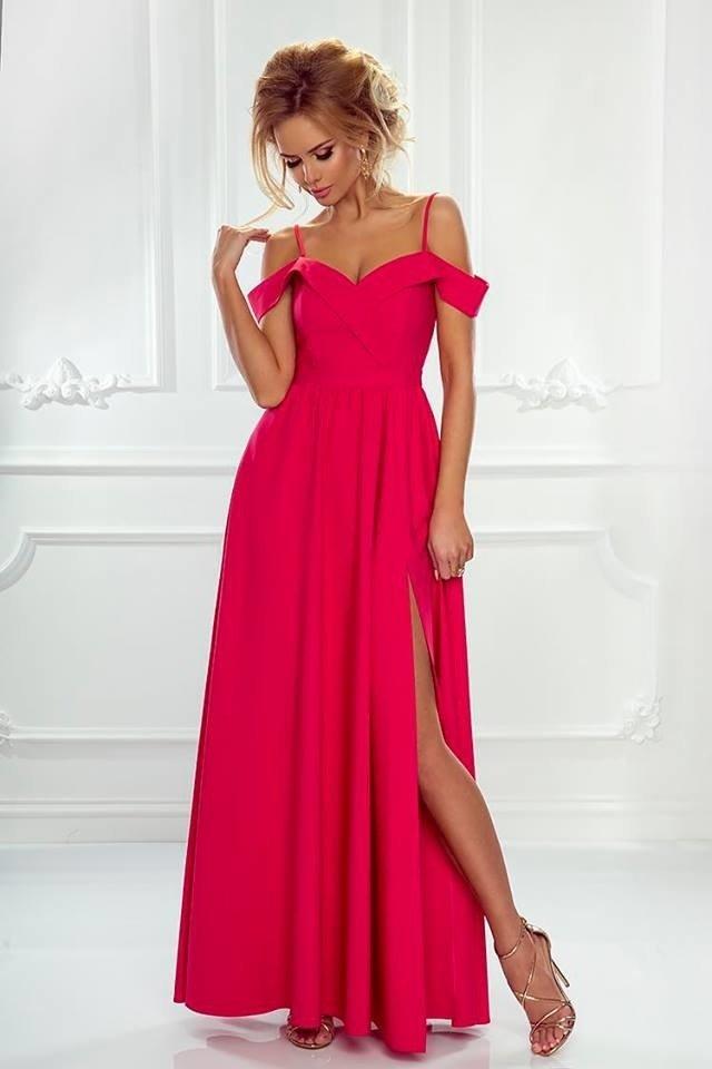 eae6ea94 Długa Sukienka Elizabeth - malinowa malinowy | Odzież \ Sukienki ...
