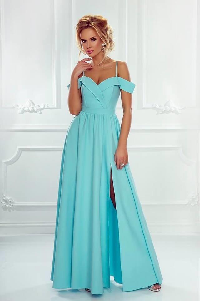 Długa Sukienka Elizabeth miętowa