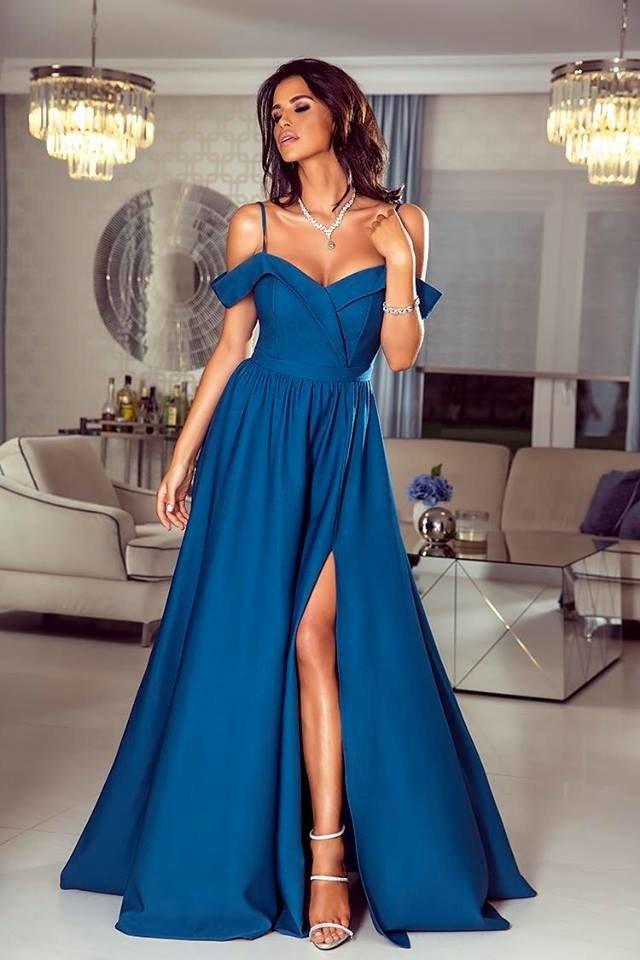 3dd3dfd8 Długa Sukienka Elizabeth - petrol petrol | Odzież \ Sukienki ...