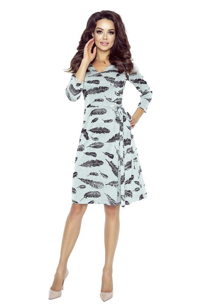 f7f0792048 Rozkloszowana sukienka z wiązaniem na boku Kliknij