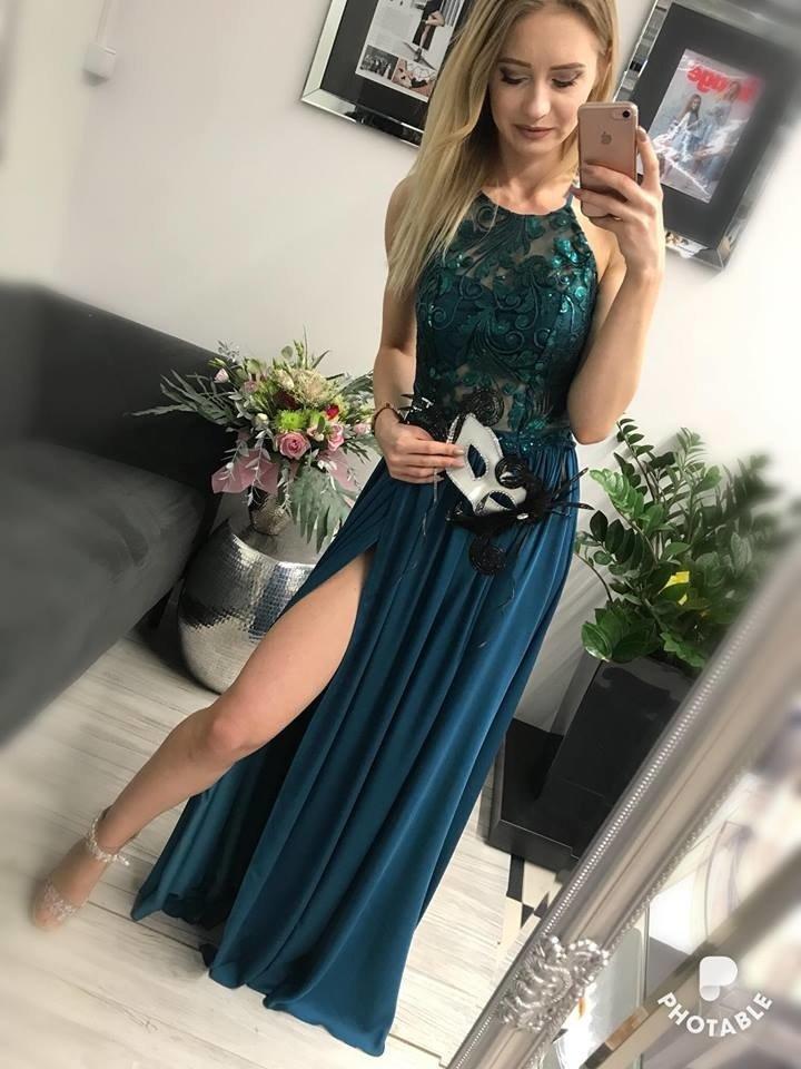 1f3f77c967 Sukienka Vivien -zielony butelkowa zieleń