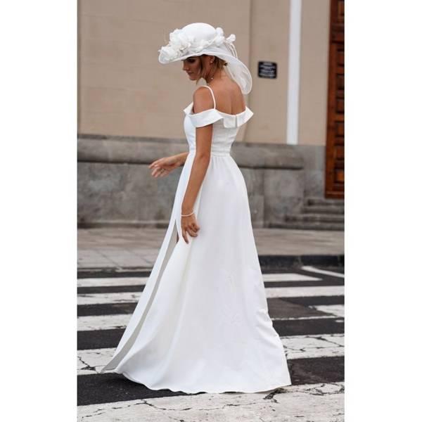 dec1d1f4a8 Długa Sukienka Elizabeth - biała Biały