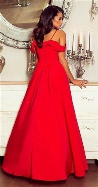 b3b28b9e87 Długa Sukienka Elizabeth - czerwona Czerwony
