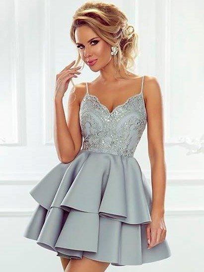 3f112f6228 Sukienka Leila - szary Szary